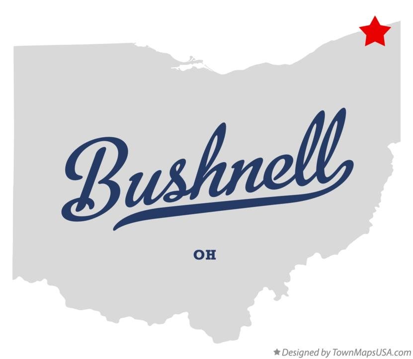 Map of Bushnell Ohio OH