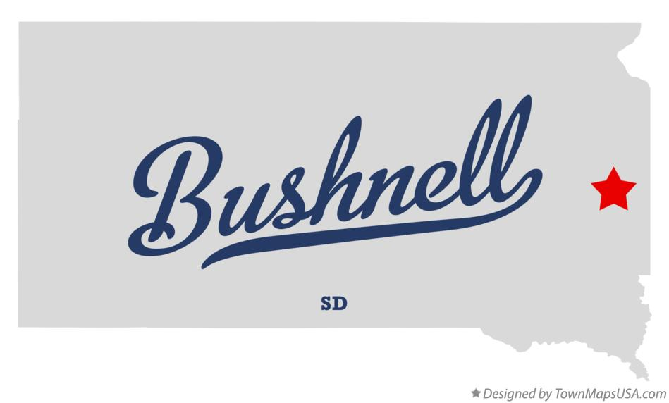 Map of Bushnell South Dakota SD