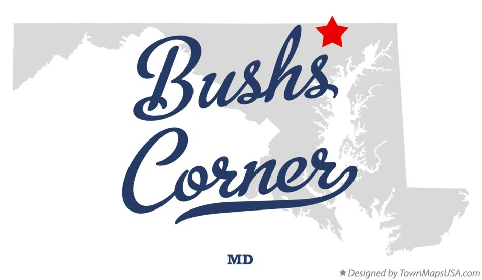 Map of Bushs Corner Maryland MD