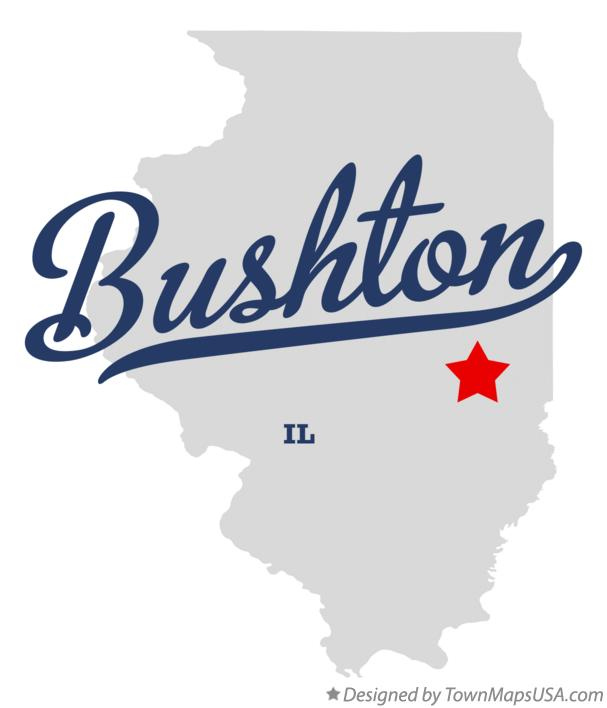 Map of Bushton Illinois IL