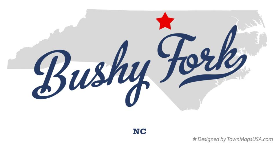 Map of Bushy Fork North Carolina NC