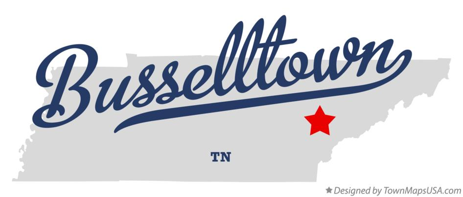Map of Busselltown Tennessee TN