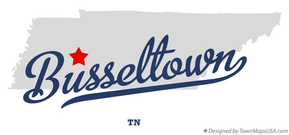 Map of Busseltown Tennessee TN