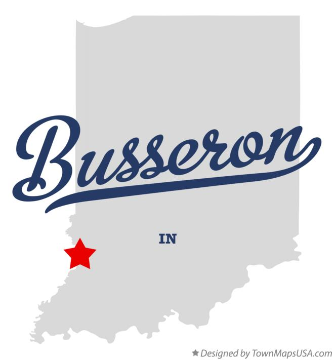 Map of Busseron Indiana IN