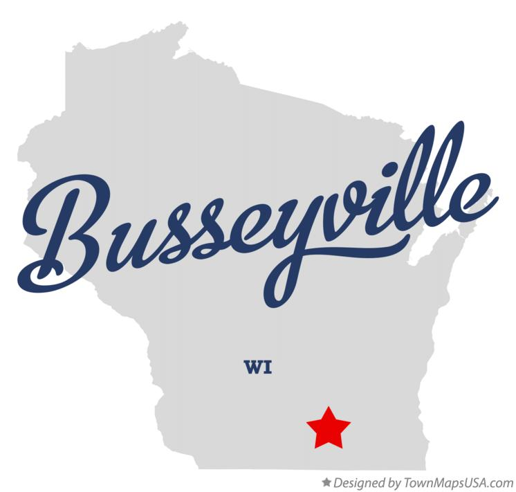 Map of Busseyville Wisconsin WI
