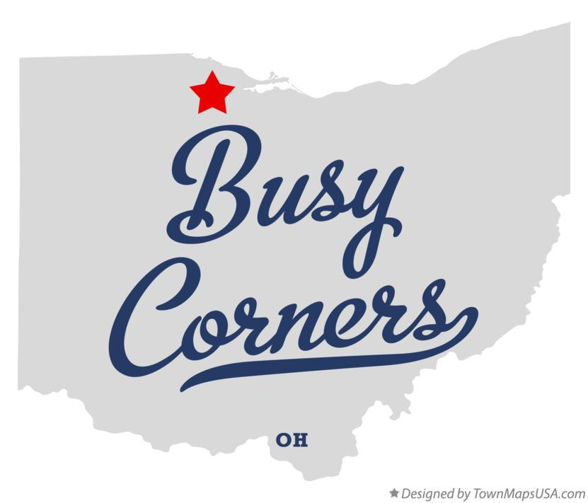 Map of Busy Corners Ohio OH