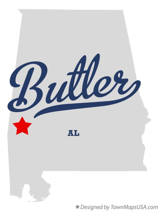 Map of Butler Alabama AL