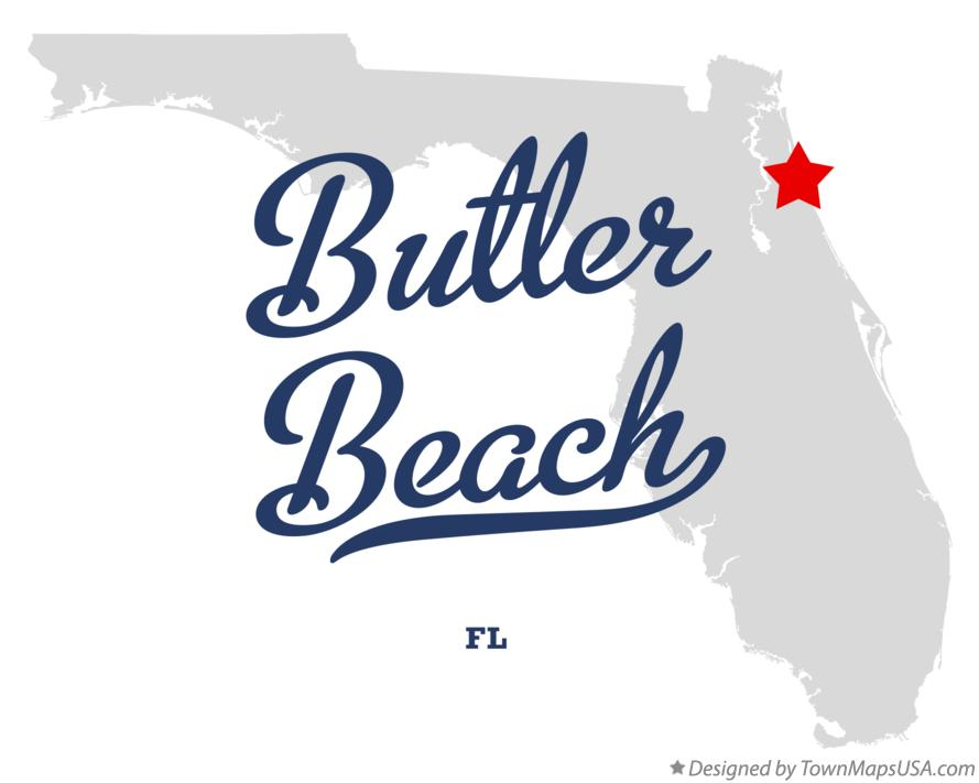 Map of Butler Beach Florida FL