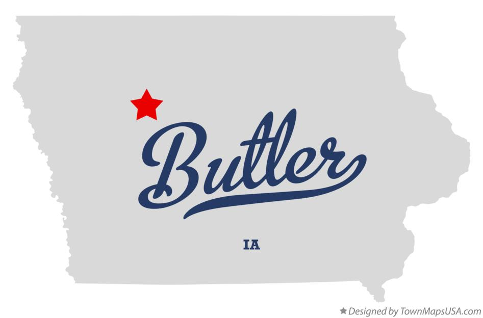 Map of Butler Iowa IA