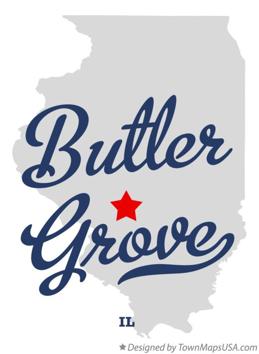 Map of Butler Grove Illinois IL
