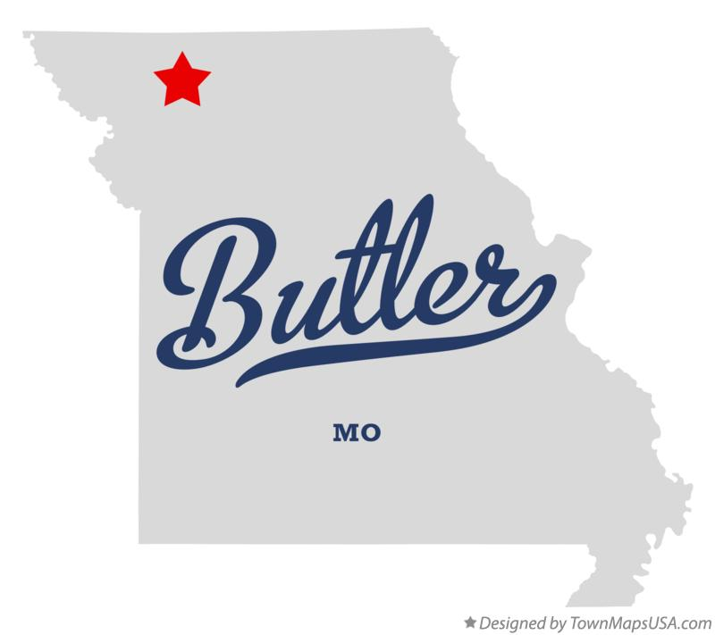 Map of Butler Missouri MO