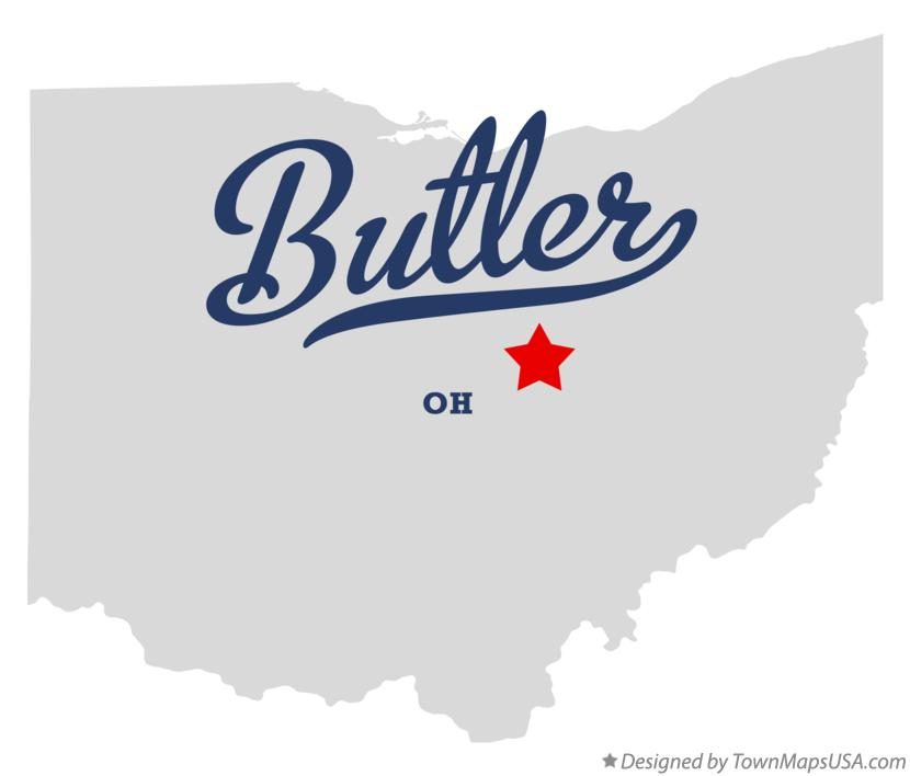 Map of Butler Ohio OH