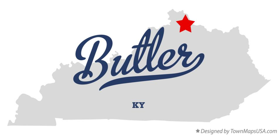 Map of Butler Kentucky KY