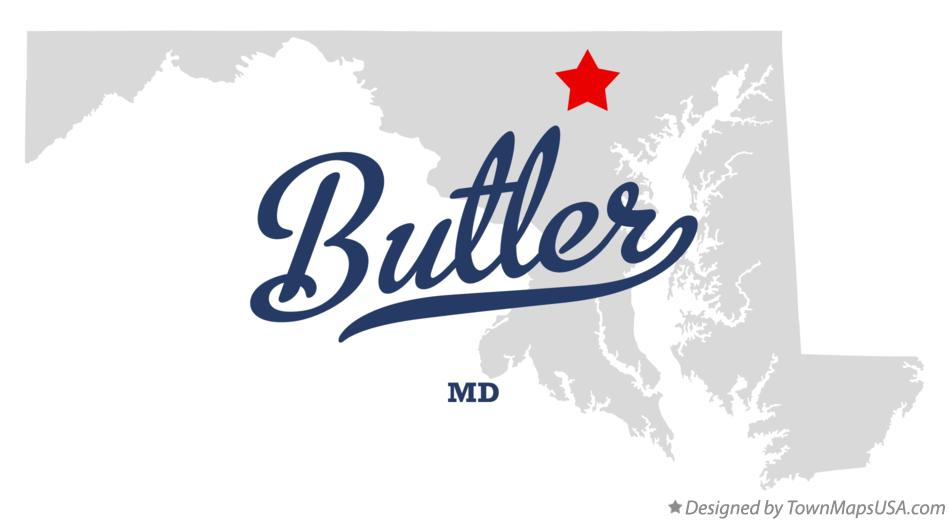 Map of Butler Maryland MD