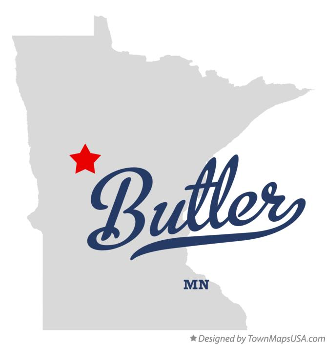 Map of Butler Minnesota MN
