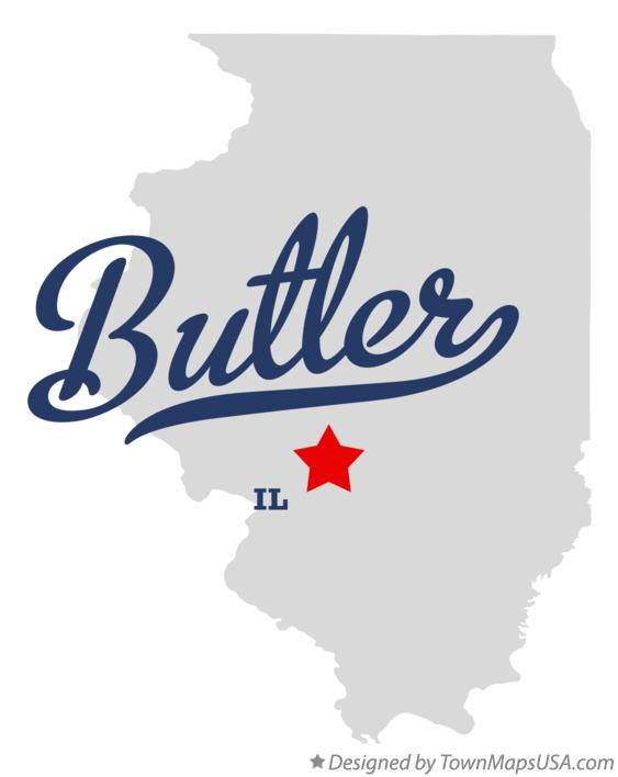 Map of Butler Illinois IL