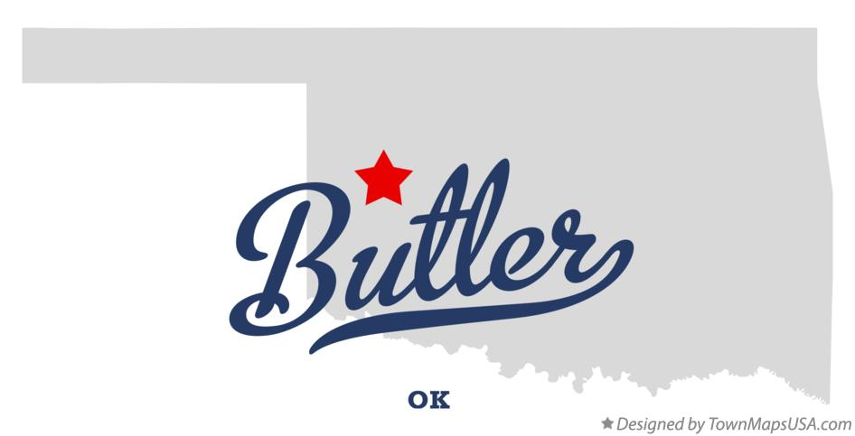 Map of Butler Oklahoma OK