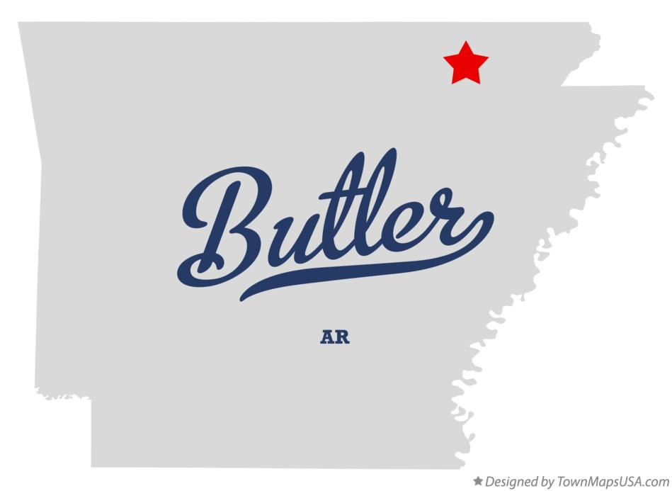 Map of Butler Arkansas AR
