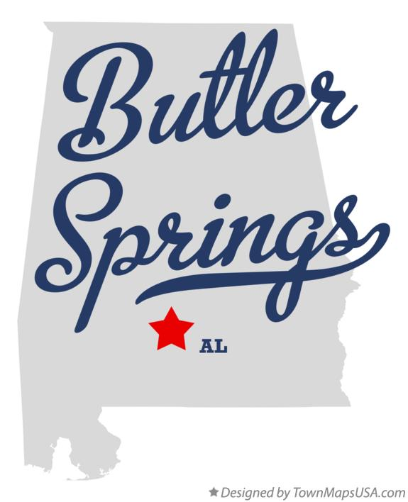 Map of Butler Springs Alabama AL