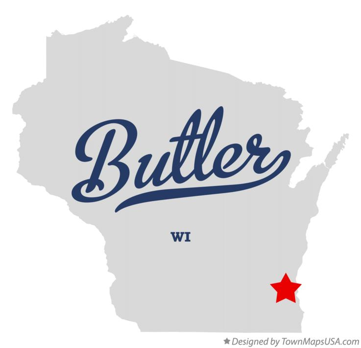 Map of Butler Wisconsin WI