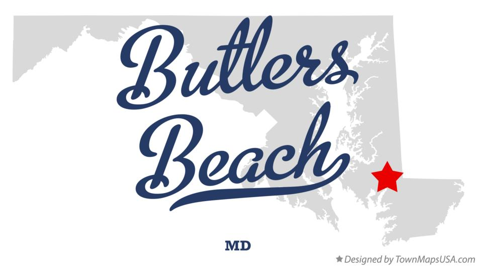 Map of Butlers Beach Maryland MD