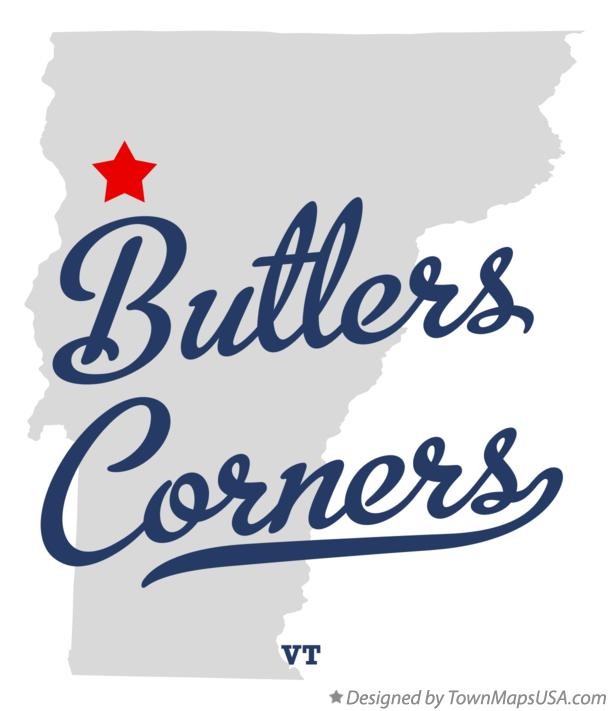Map of Butlers Corners Vermont VT