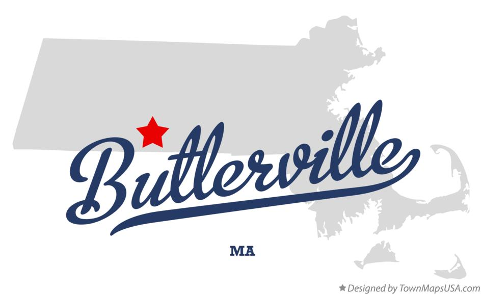 Map of Butlerville Massachusetts MA