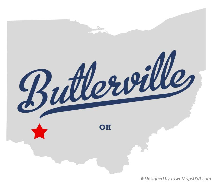 Map of Butlerville Ohio OH