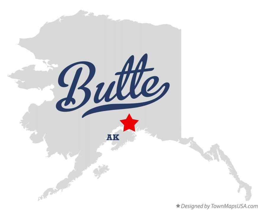 Map of Butte Alaska AK