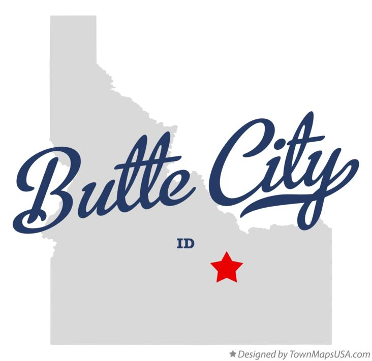 Map of Butte City Idaho ID