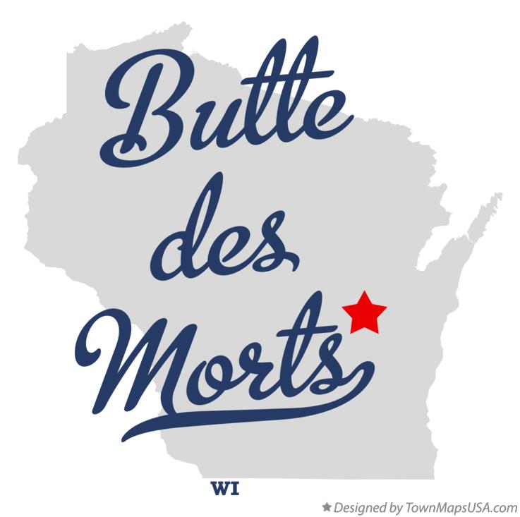 Map of Butte des Morts Wisconsin WI