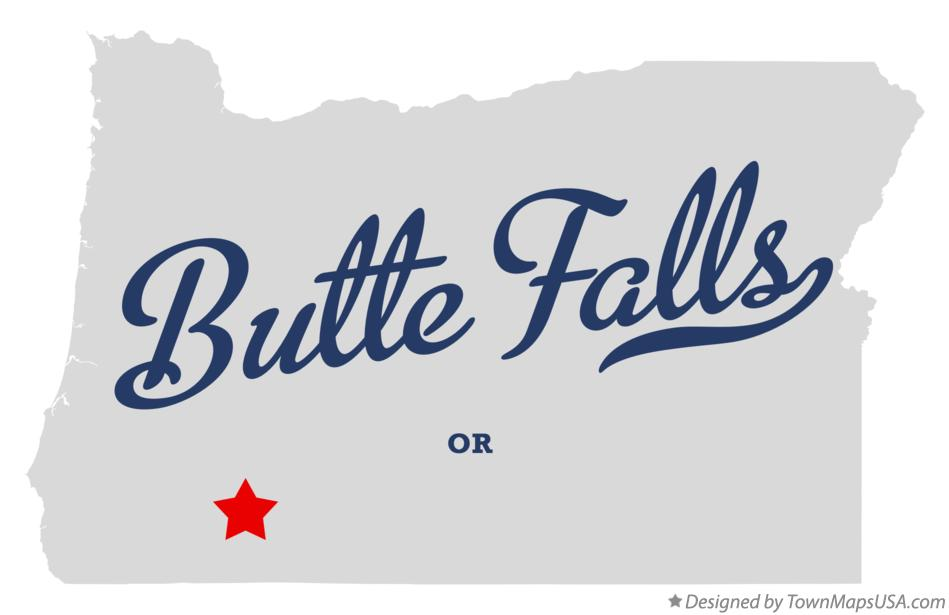 Map of Butte Falls Oregon OR