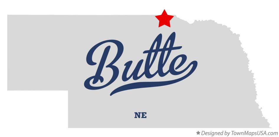 Map of Butte Nebraska NE