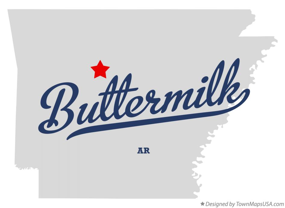 Map of Buttermilk Arkansas AR