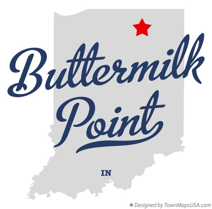 Map of Buttermilk Point Indiana IN