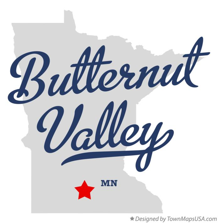 Map of Butternut Valley Minnesota MN