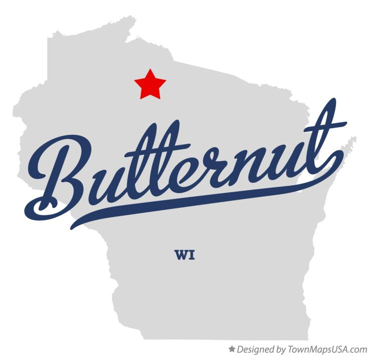 Map of Butternut Wisconsin WI