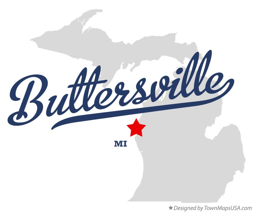 Map of Buttersville Michigan MI