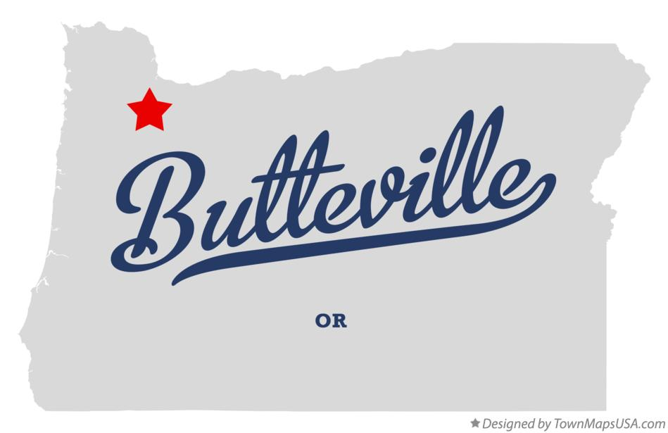 Map of Butteville Oregon OR