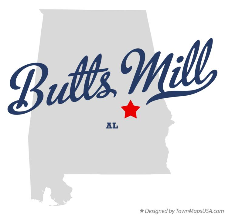 Map of Butts Mill Alabama AL