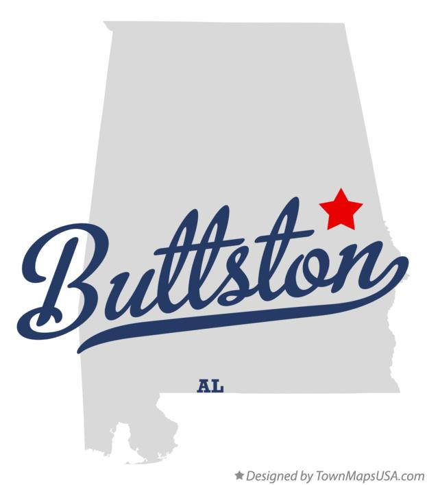 Map of Buttston Alabama AL