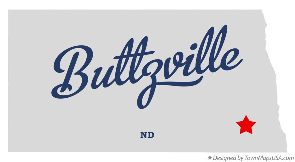 Map of Buttzville North Dakota ND