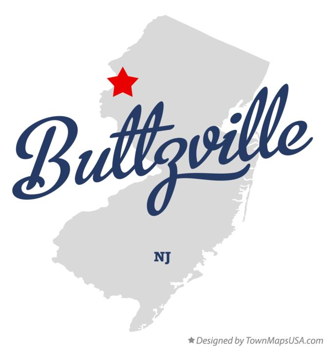 Map of Buttzville New Jersey NJ