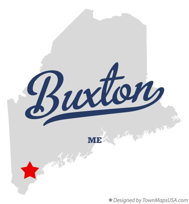 Map of Buxton Maine ME