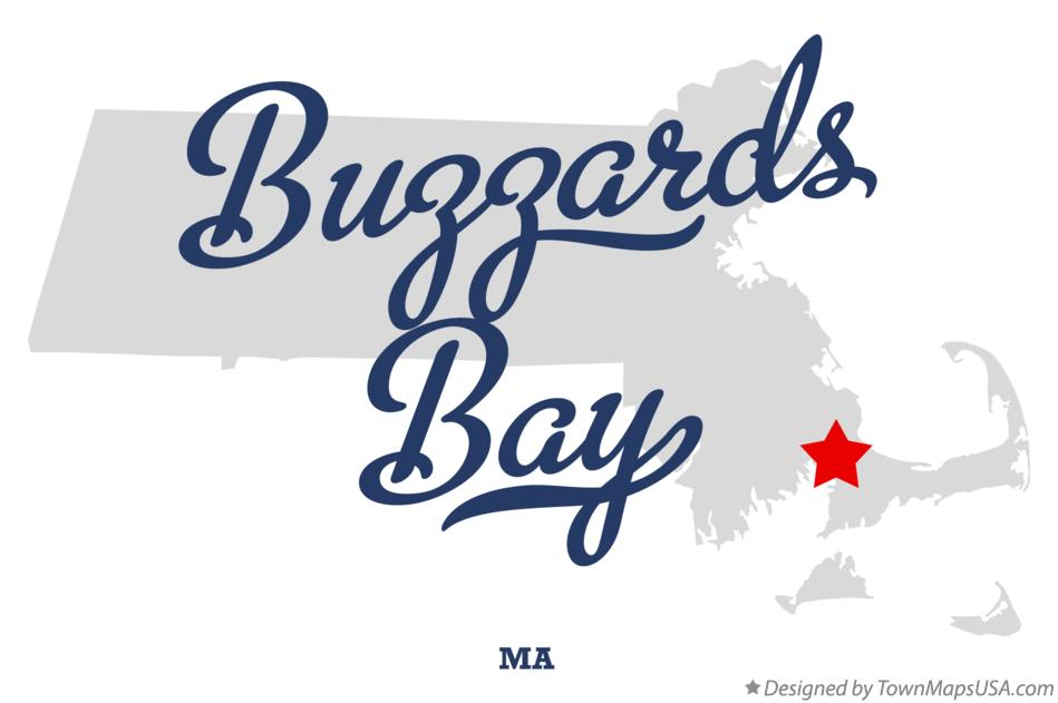 Map of Buzzards Bay Massachusetts MA