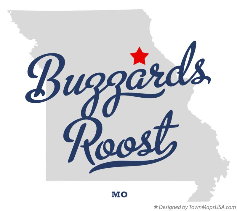 Map of Buzzards Roost Missouri MO