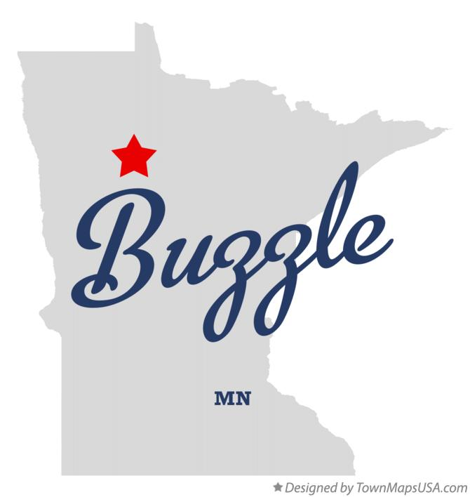 Map of Buzzle Minnesota MN