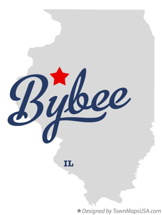 Map of Bybee Illinois IL