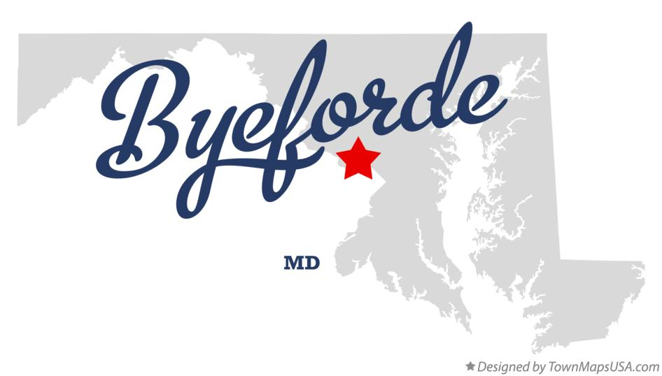 Map of Byeforde Maryland MD