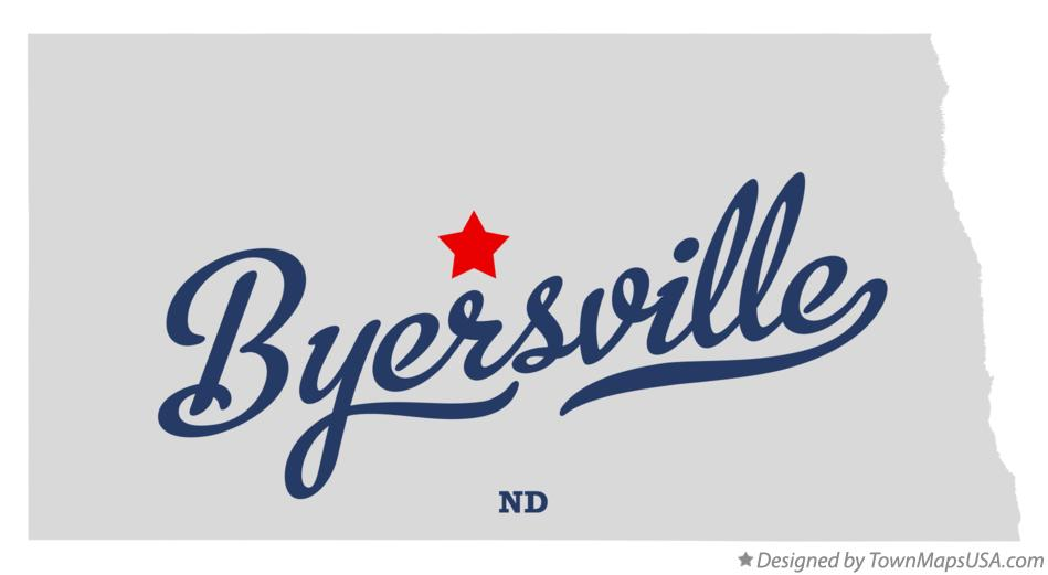 Map of Byersville North Dakota ND